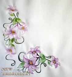 цветы бесплатный дизайн машинной вышивки