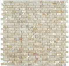 Pearl glass tile backsplash: LOVE