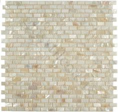 Pearl glass tile backsplash: LOVE