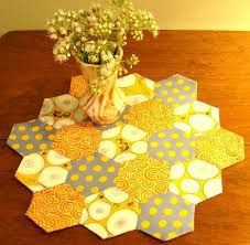 Image result for english paper piecing table runner