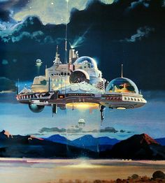 The floating future worlds of Robert McCall, 1971-1982. #space