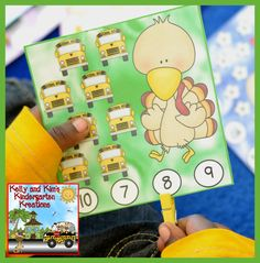 Clippie Fun for Everyone! Interactive clip cards for rhyming, counting, identifying numerals, sight words, and early reading. Great hands-on skill practice for fall themes like apples, fall kids, scarecrows, costumes, and turkeys. $