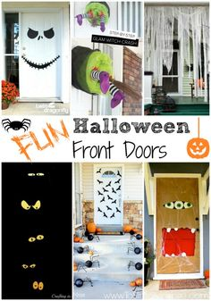 Halloween is right around the corner! There are so many fun ways to decorate your front door to welcome your trick-or-treaters.