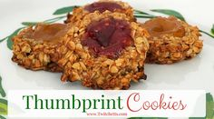 Thumbprint Cookie-oatmeal thumbprint cookies using any flavor of jelly. Perfect for a Christmas cookie or toddler snack. Choose from any flavor of jam.