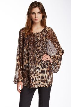Where The Wild Things Are Leopard Silk Blouse by Craig Taylor on @HauteLook