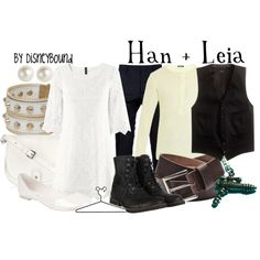 Han + Leia, created by lalakay on Polyvore #starwars