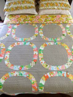 Single Girl Quilt Finished by clothwork, via Flickr  quilting looks great!