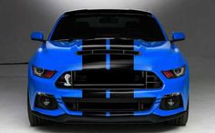 """Henry Ford Said """"... you can have any color as long as it is Black"""" :) ~ Sweet Blue Accents!! ;) ~ 2018 Ford Shelby GT500: Is It Wishing To Be Like The Nissan GT-R?"""