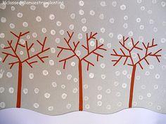 Winter Q-Tip Trees