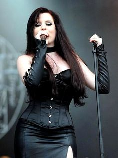 Ailyn Giménez of Sirenia. Sirenia is a gotic metal band from Stavanger, Norway…