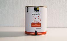 """Dans le cadre de mon TFA, j'ai du réalisé 3 packagings de pots de peinture style """"arty"""", """"zen"""" et enfin """"façade"""""""