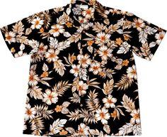 """Hawaiihemd / Hawaii Hemd """"Black Elegance"""" / von Hawaiihemdshop.de / 100% Baumwolle / Knöpfe aus Kokosnuss / inkl. Brusttasche"""