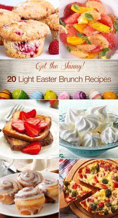 Get the Skinny! 20 Light Easter Brunch Recipes