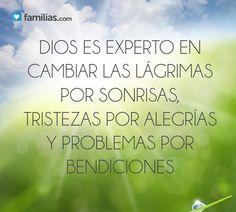 Dios es experto en cambiar los problemas por bendiciones