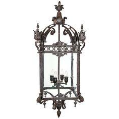 Italian Iron Hanging Lantern. $8600