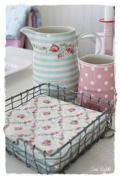 pastels and floral napkins - pretty