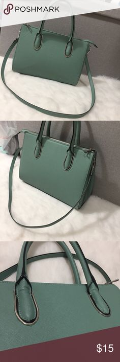 Mint tote handbag shoulder crossbody purse A plain, simple handbag/cross body purse I got but used occasionally. It's cute but not my color. If you have any questions, feel free to message me or comment! H&M Bags Totes