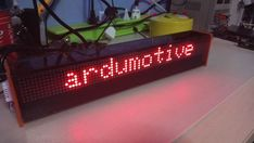 DIY Arduino LED Matrix Display - 80x8 Px