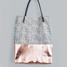 Shopper BAJA CALIFORNIA organic cotton metallic leather
