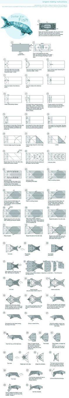 Origami-Papierwürfel falten - New Ideas Dollar Bill Origami, Money Origami, Origami Ball, Dollar Bills, Origami Koi Fish, Origami Dragon, Origami And Kirigami, Origami Paper Art, Oragami