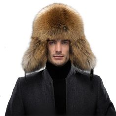 53fc9733000 Men s Fur Hat - Winter Real Raccoon Fur Cap Fox Fur Genuine Leather Russia  Aviator Hats - A-raccoon Fur - C212MBDJGS7