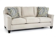 This sofa can be built to meet your unique taste! Customize the look by choosing from different arm styles, bases, cushion options, and fabrics. *NOT THIS FABRIC***