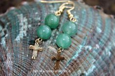 Two Feathers Jewelry  Green Gemstone by TwoFeathersJewelry on Etsy,