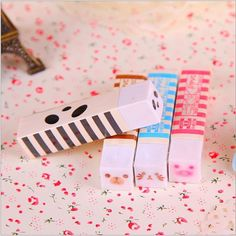 Free ship 1lot=12pcs/Korean stationery kawaii cute Cartoon animal face eraser/school supplies /students gift