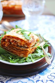 Baked Lasagna - This is a traditional recipe that requires you to make a bechamel sauce made from Fontina, Mozzarella di Bufala and Parmigiano. Sounds amazing, but a little too much work for a weeknight.