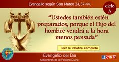 MISIONEROS DE LA PALABRA DIVINA: EVANGELIO - SAN MATEO  24,37-44