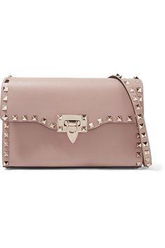 c2b266700e0e Valentino - Valentino Garavani The Rockstud textured-leather shoulder bag