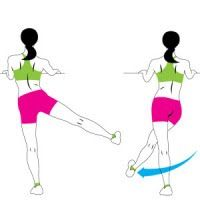 Easy leg workouts for slim legs and a nice bum