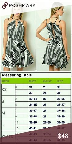 c317ae4a89f2bb NWT Black & White zigzag dress (F15) Brand new with tags.Double strap