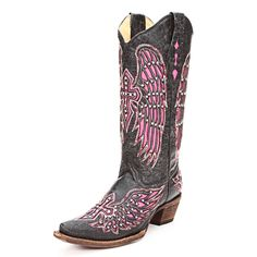 Corral Wing & Cross Cowgirl Boots