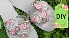 DIY: Sandália  customizada com lacinho luxuoso (Cleo Artes) ( 16 )