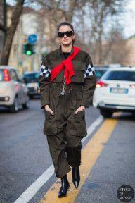 STYLE DU MONDE / Milan Men's FW 2017 Street Style: Eleonora Carisi  #Fashion, #FashionBlog, #FashionBlogger, #Ootd, #OutfitOfTheDay, #StreetStyle, #Style