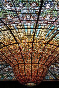 Art Nouveau ... Palau de la Musica Catalana Barcelona.....amazing space, so beautiful