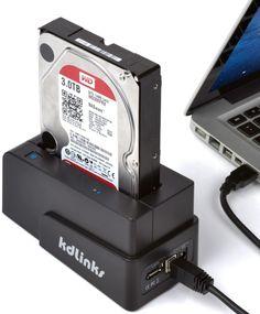 USB 3.0/2.0 eSATA 2.5″/3.5″ SATA Hard Drive Docking Station