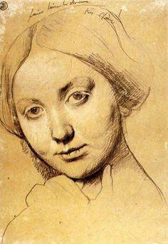 Jean Auguste Dominique Ingres Disegno preparatorio Pittore neoclassico francese