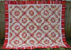 Sharing some Jamestown Landing love from Angelia Northrip-Rivera aka The Eclectic Abuela! I absolutely love how this quilt sparkles in red! The pattern for Jamestown Landing is found in my book String Fling. Signed copies are available on my website at http://quiltville.com #quilt #quilting #patchwork #quiltville #bonniekhunter #stringquilt #stringfling #quiltsbyyou