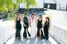 Bryllup på Øvre-Eide Gård i Bergen. Bridesmaid Dresses, Wedding Dresses, Bergen, Eid, Fashion, Bridesmade Dresses, Bride Dresses, Moda, Bridal Gowns
