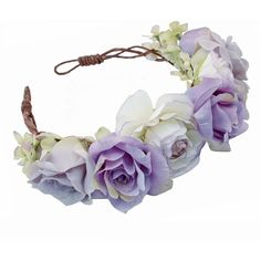 Lana Oversized Floral Crown Headband ($59) ❤ liked on Polyvore