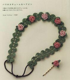 3 collares de crochet con encanto - Patrones Crochet                                                                                                                                                                                 Más