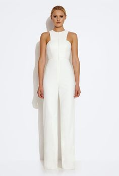 be4117c76b55 This AQ AQ white jumpsuit is so versatile and classy. You can wear it for a  dinner