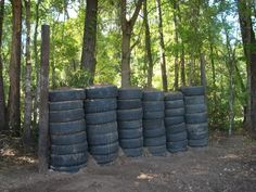 Tire and dirt backstop