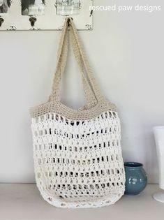 Market tote crochet pattern Rescued Paw Design