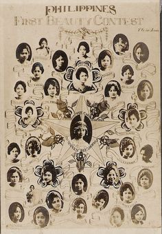 A poster from the first national beauty pageant.