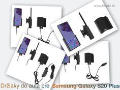Nové držiaky do auta pre Samsung Galaxy S20+ G985. Pasívny držiak Brodit pre pevnú montáž v aute, aktívny s CL nabíjačkou, s USB alebo s Molex konektorom. Ipad Air, Apple Iphone, Samsung Galaxy, Usb