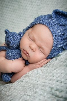Crochet Bear - Crochet Teddy Bear - Baby Bear - Newborn Photos - Photo Prop - Boy Baby Shower Gift - Crochet Stuffed Animal - Handmade Bear