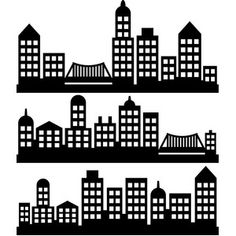 Silhouette Design Store - Search Designs : new york city Cityscape Drawing, Festa Pj Masks, Bedroom Murals, Silhouette America, Silhouette Design, Building Silhouette, Superhero Party, Boy Room, Storyboard